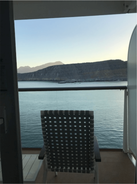 Aussicht von der Mein Schiff
